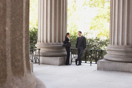 divorce lawyers discussing a case in Massachusetts
